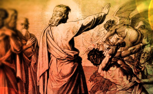 Jesus casting out